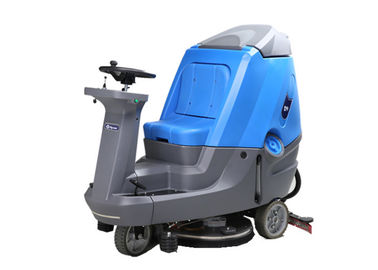 Ride On Drving Floor Scrubber Dryer Machine Untuk Stasiun Kereta Api Biru / Abu-abu